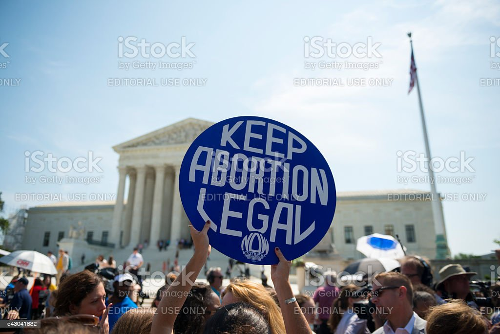 Keep abortion legal sign at Supreme Court stock photo