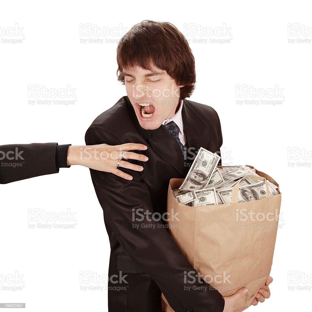 Keep away from my money! royalty-free stock photo
