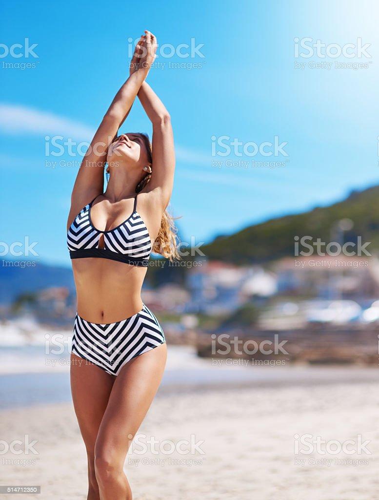 Keep calm and enjoy summer stock photo