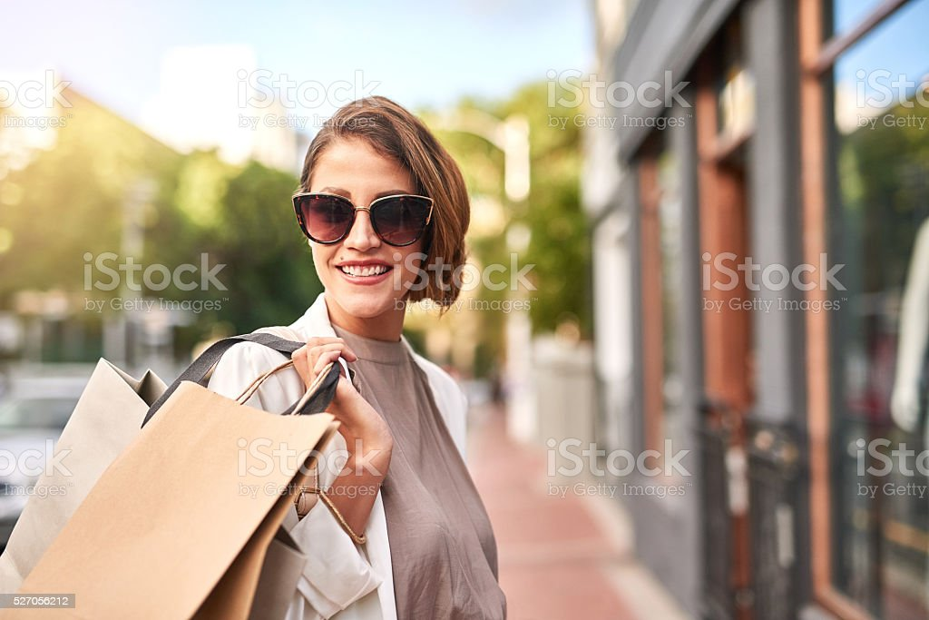 Keep calm and go shopping stock photo