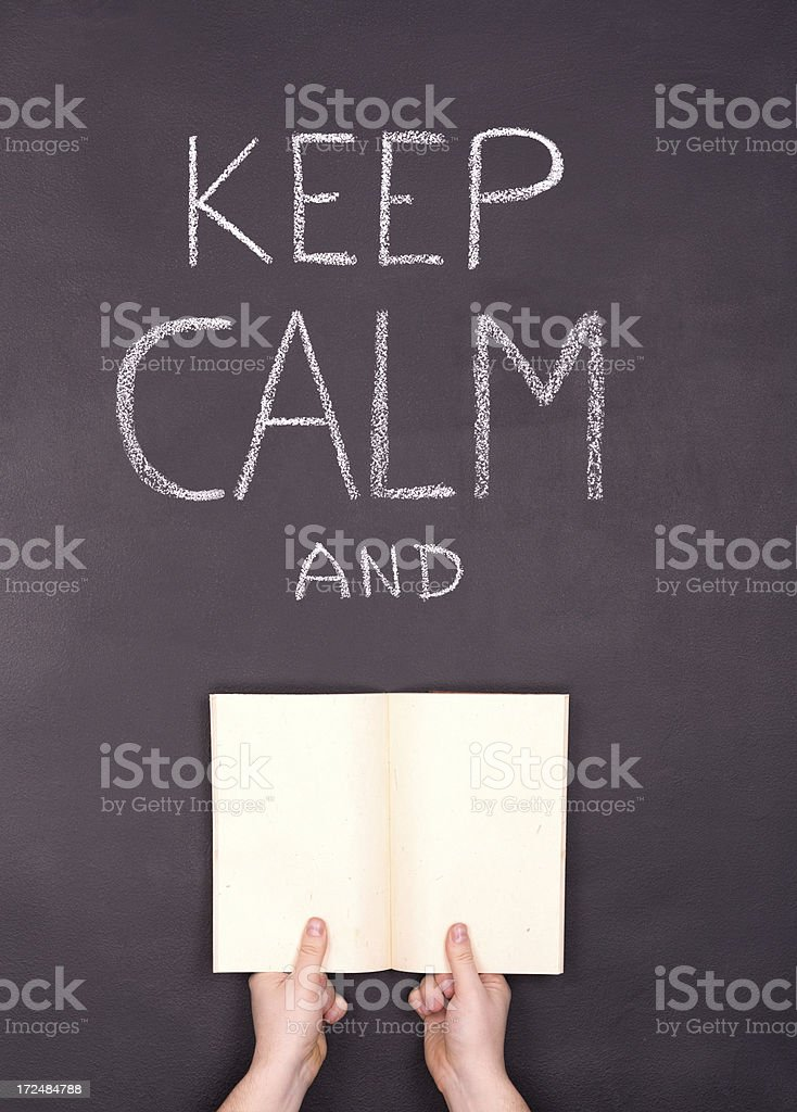 Keep Calm and ... stock photo