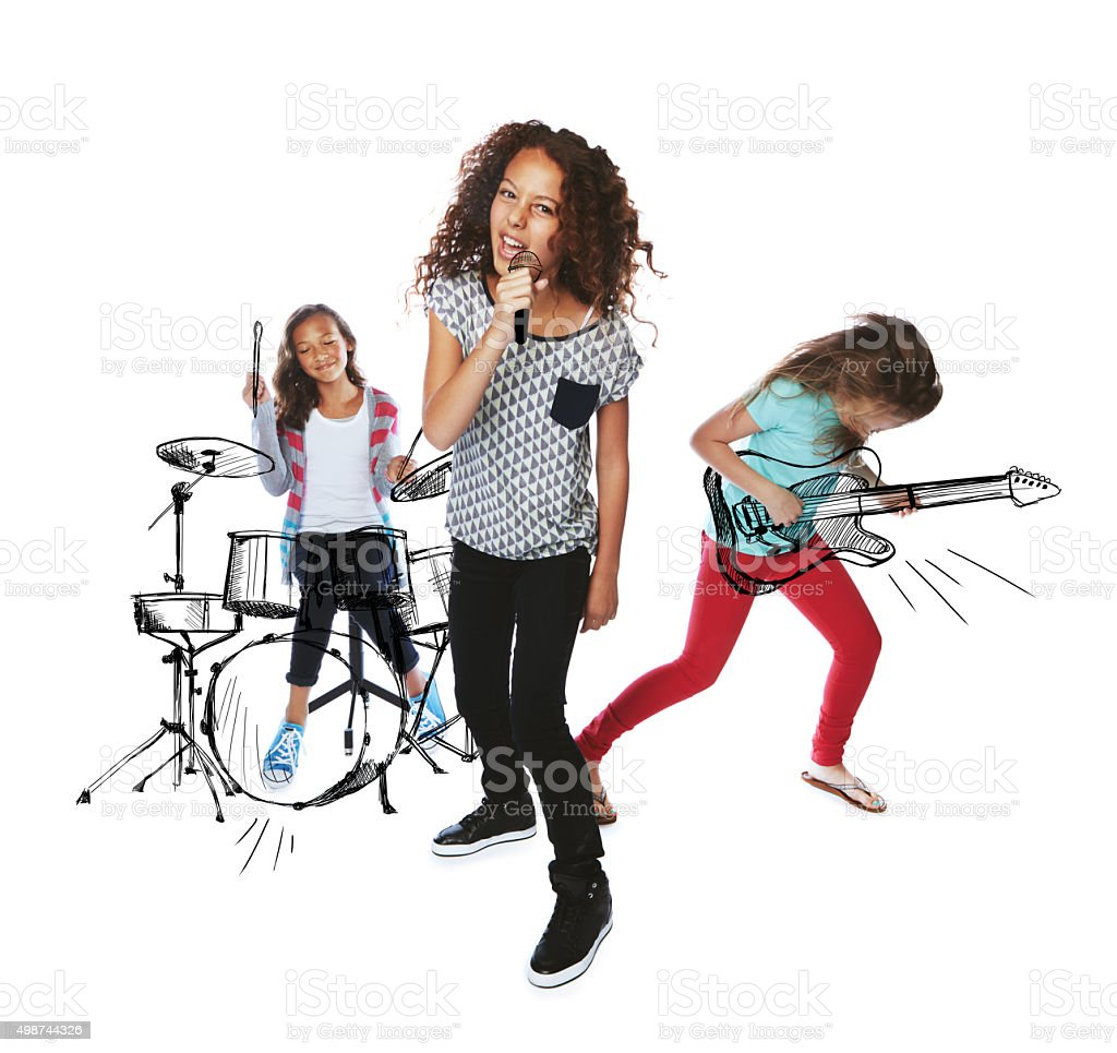 Keep calm and rock on! stock photo