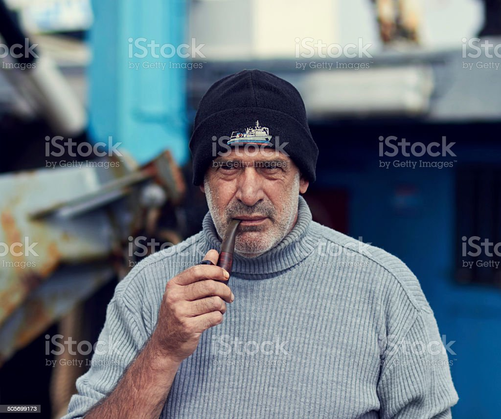 Keep calm and smoke a pipe stock photo
