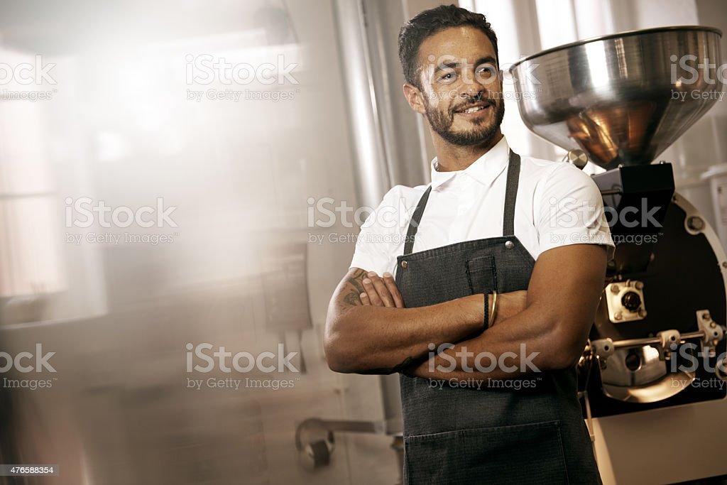 Keep calm, I'm a barista stock photo