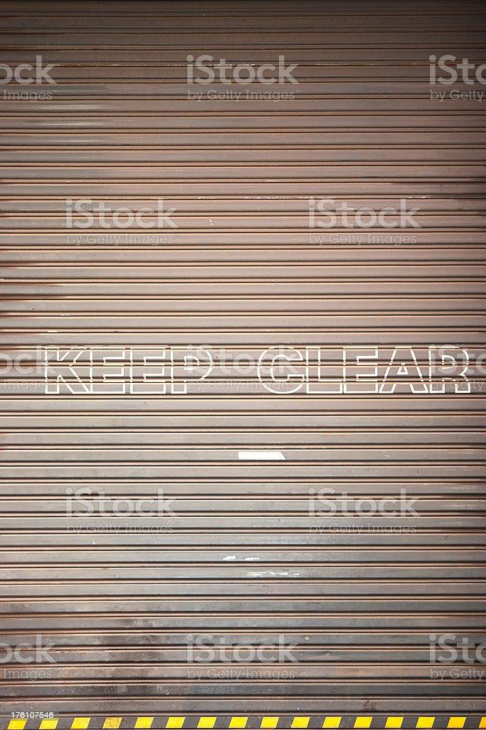 Keep Clear Lizenzfreies stock-foto