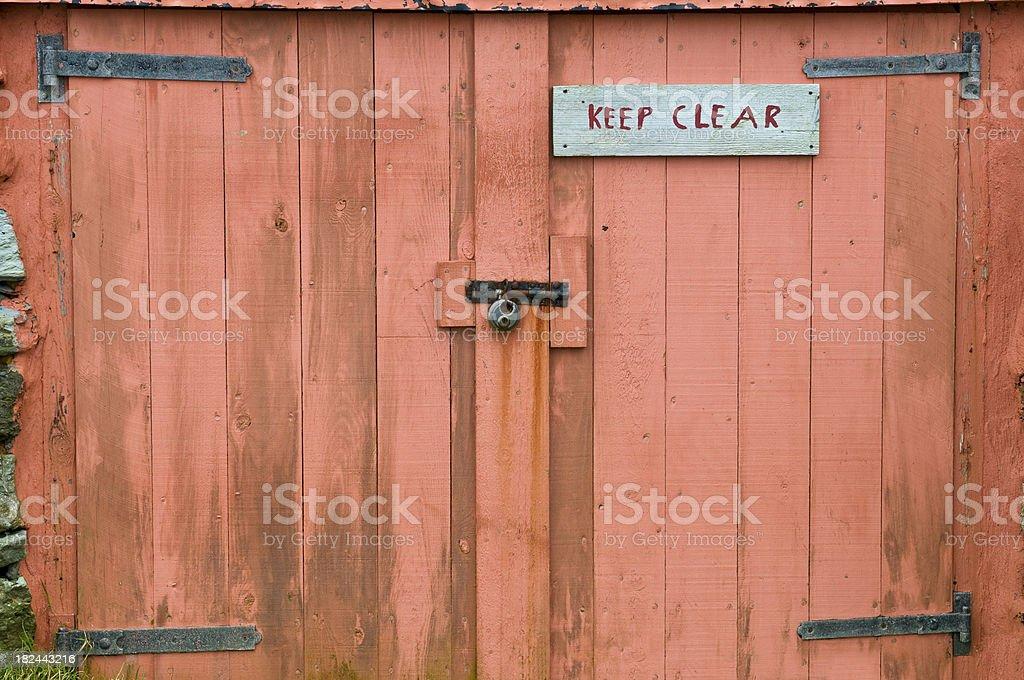 Keep Clear stock photo