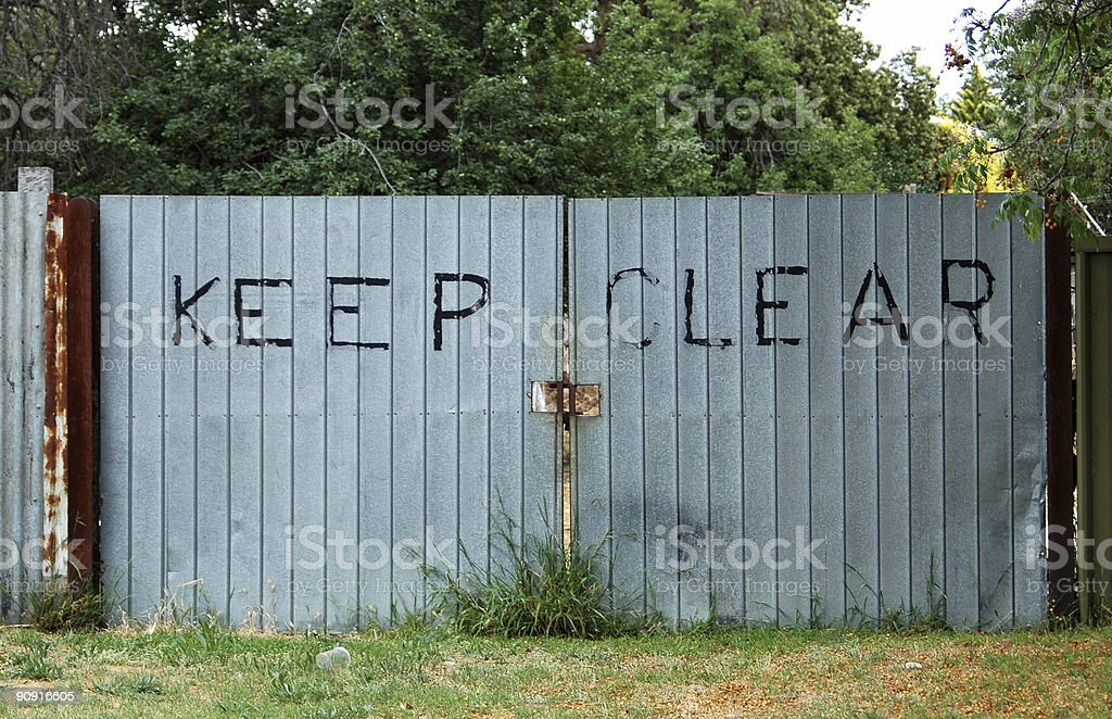 Keep Clear royalty-free stock photo