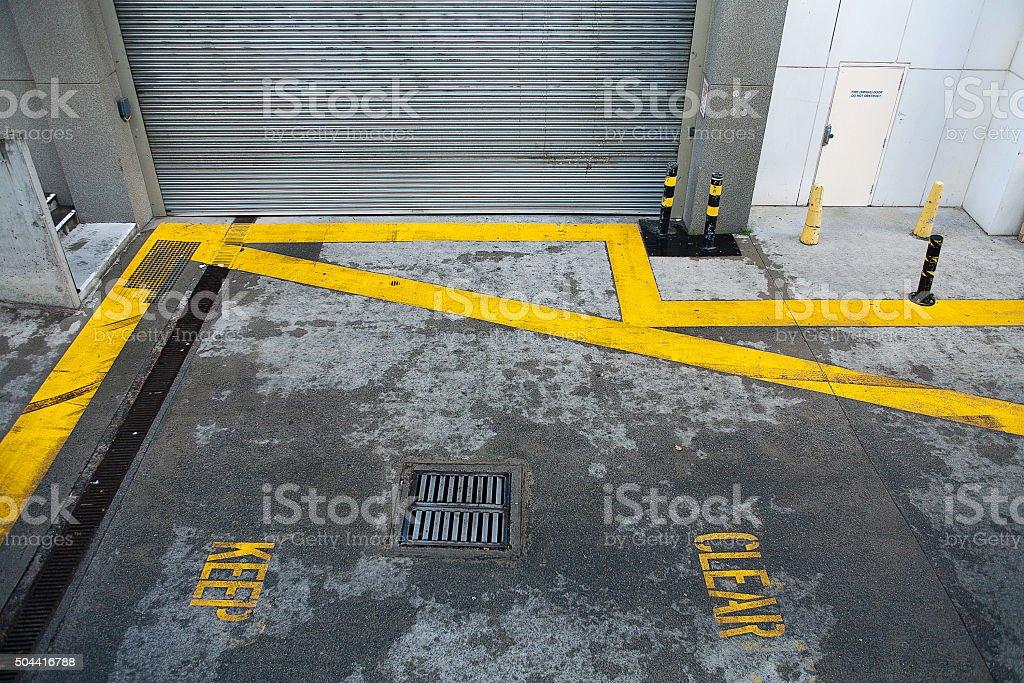 Keep Clear road markings stock photo