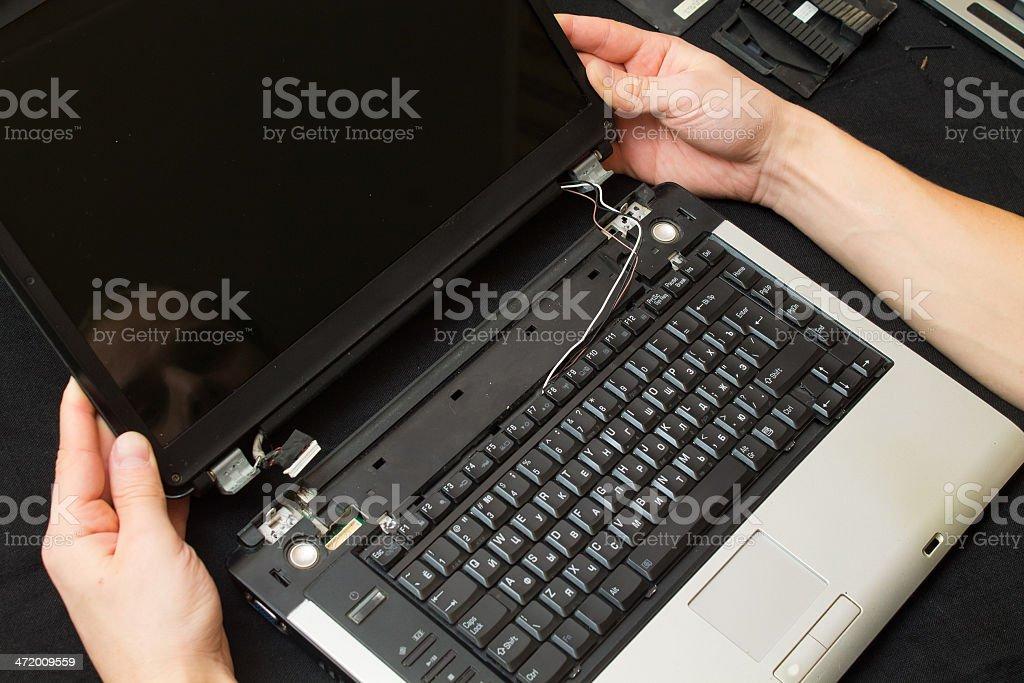 Keep disassembled computer stock photo