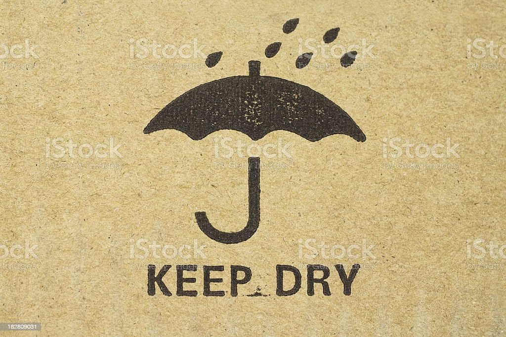 Keep dry sign stock photo