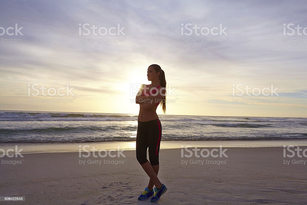 Keep fit and love your body stock photo