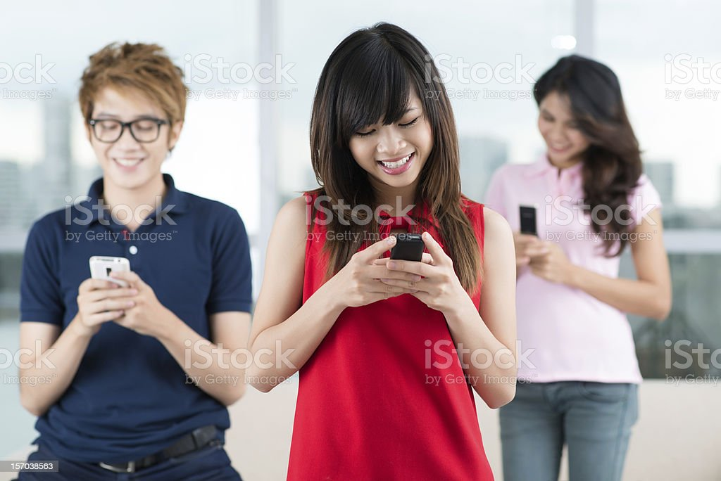 Keep in touch royalty-free stock photo