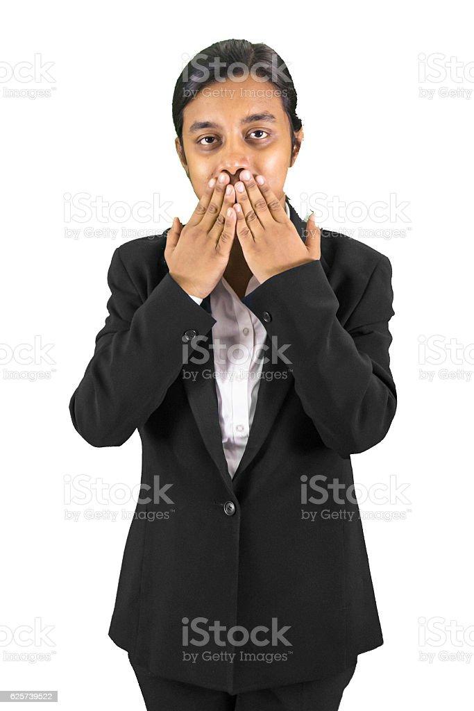keep it hush hussh!! stock photo
