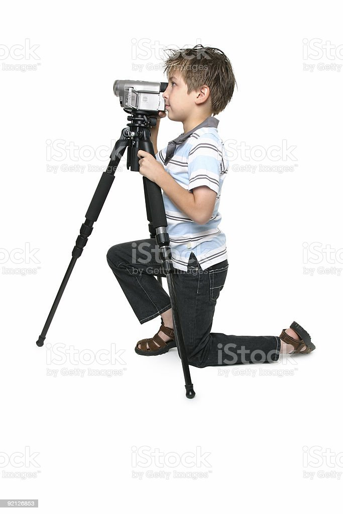 Keep it steady with a tripod royalty-free stock photo