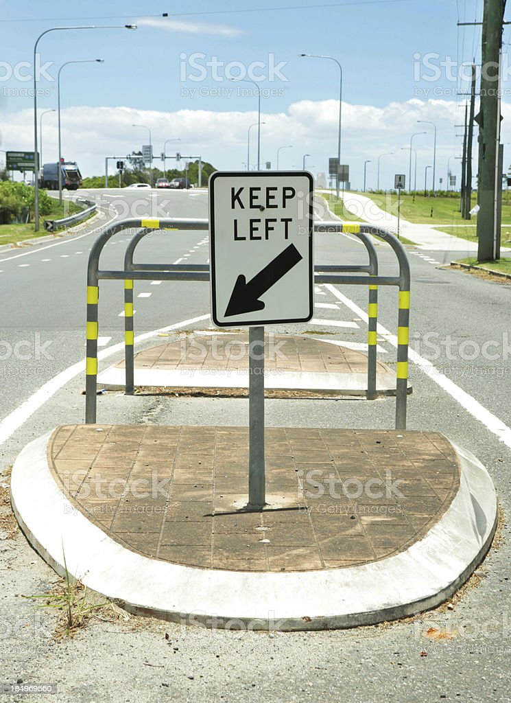 Keep Left royalty-free stock photo