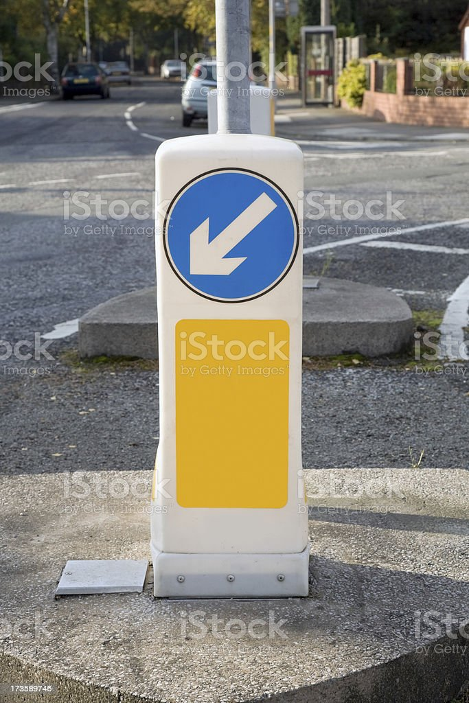 Keep Left Sign stock photo