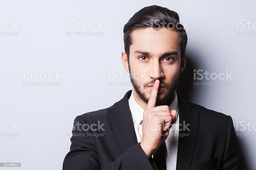 Keep my secret! stock photo
