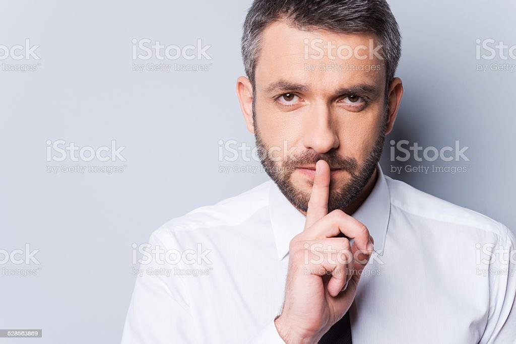 Keep my secret! stock photo