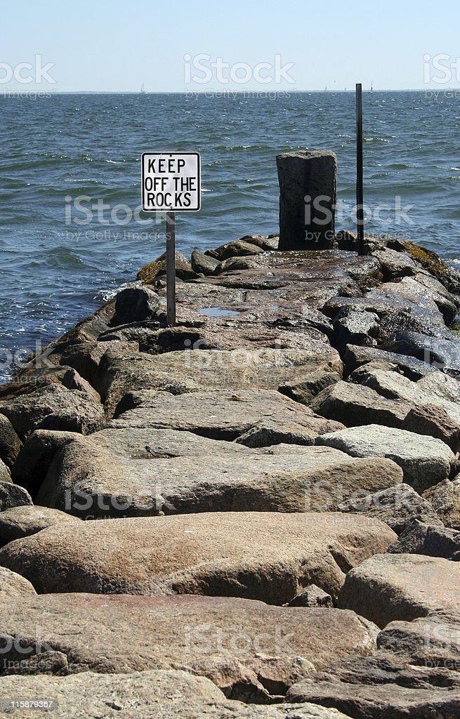 Restez sur the Rocks photo libre de droits