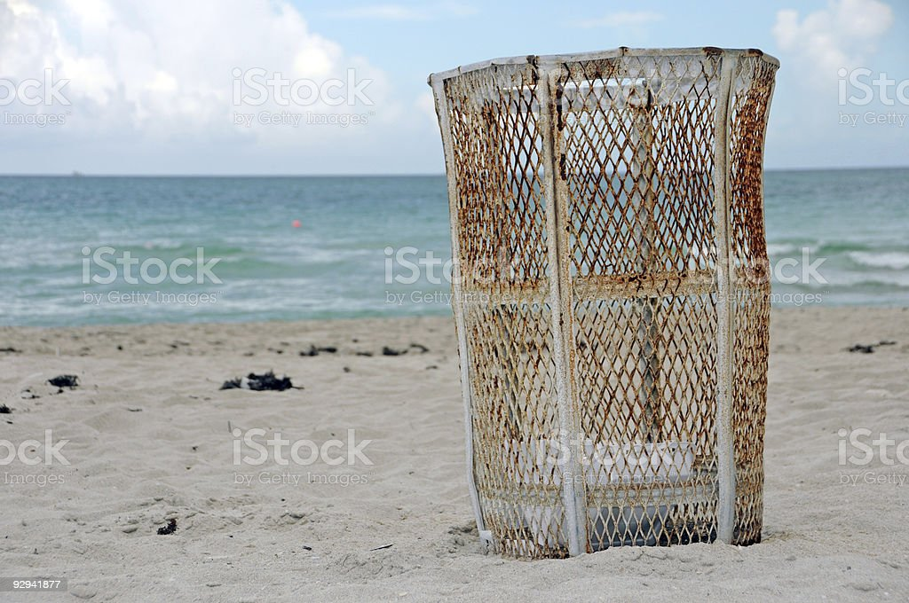 keep our beaches clean! royalty-free stock photo