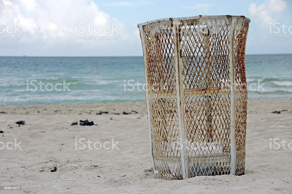 keep our beaches clean! stock photo