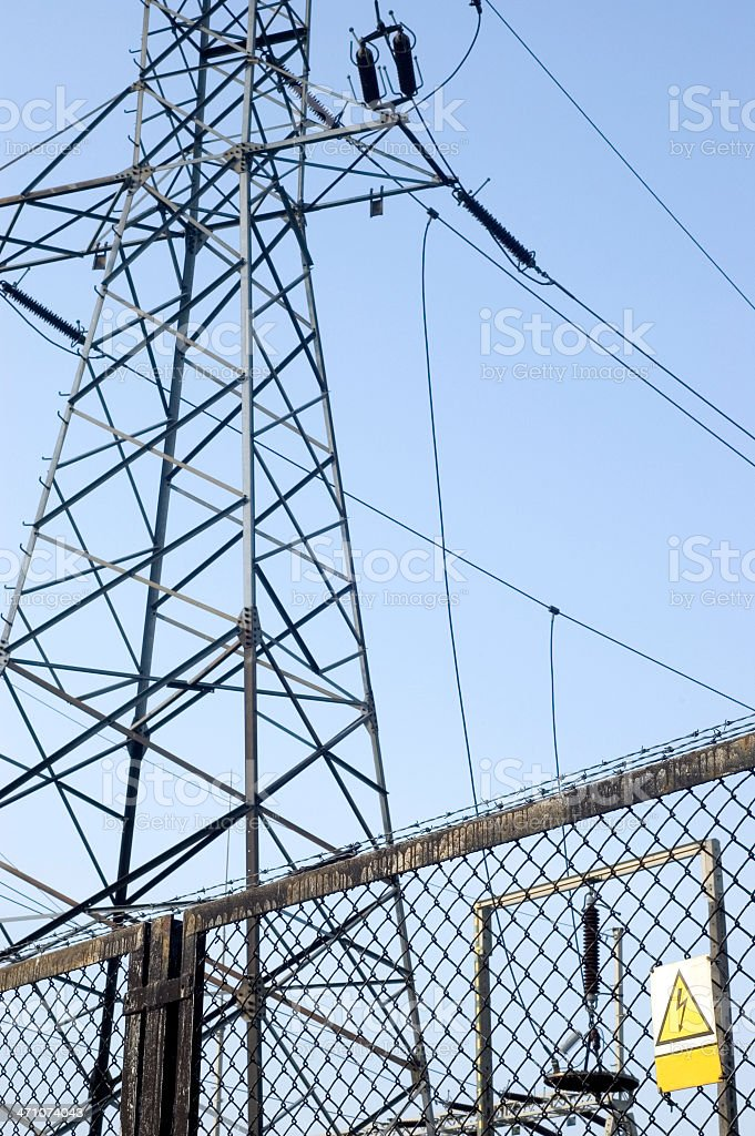 Keep out ! Electric device ! royalty-free stock photo