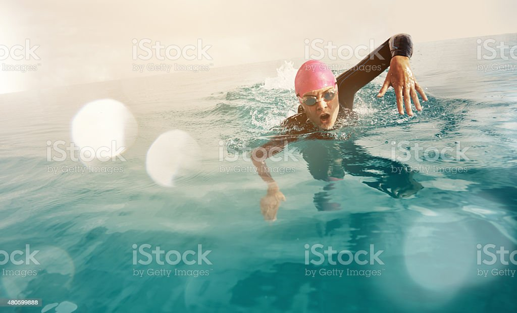 Keep pushing your limits stock photo