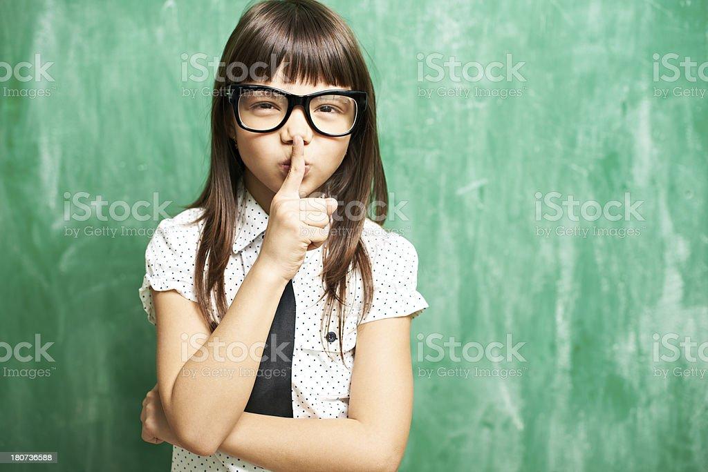 Keep quiet royalty-free stock photo