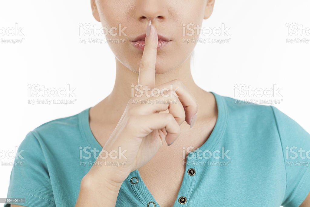 Keep silence. stock photo