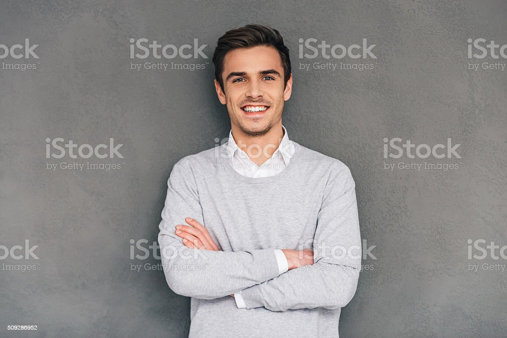 Keep smiling. stock photo