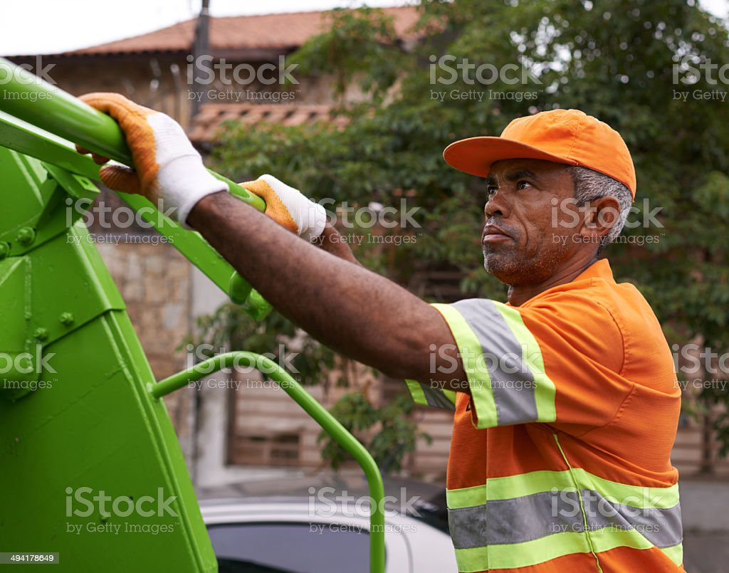 Keep the streets clean stock photo
