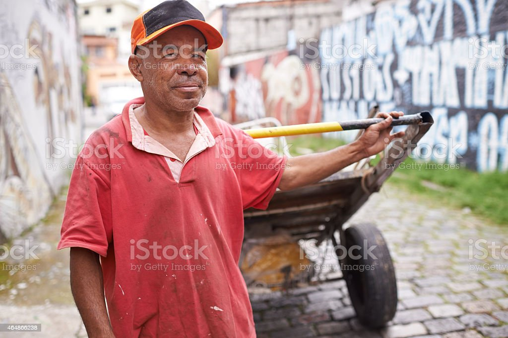 I keep this city clean stock photo