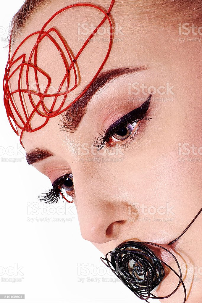 Keep track of your thoughts and words ... stock photo