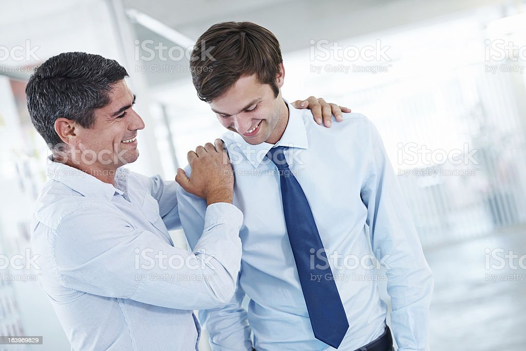 Keep up the great work my boy! royalty-free stock photo