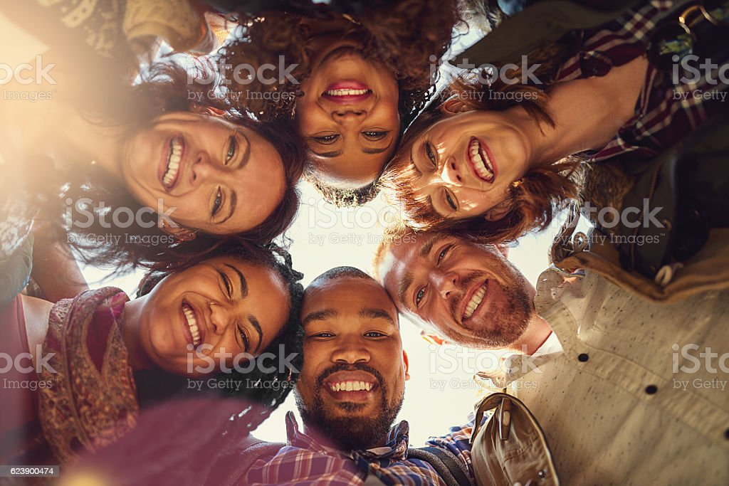 Keep your enemies close and your friends even closer stock photo