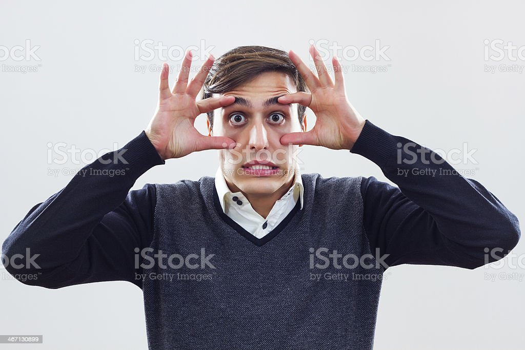 Keep your eyes open! stock photo