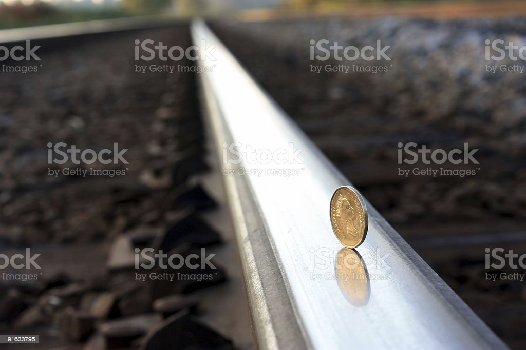 Keep Your Money On Track stock photo