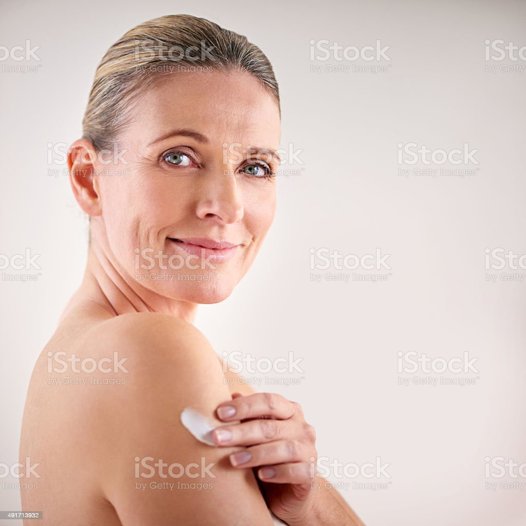 Keep your skin feeling soft and smooth stock photo