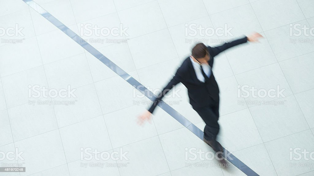 Keeping balance in business stock photo