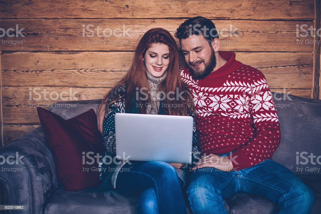 Keeping connected as a couple stock photo