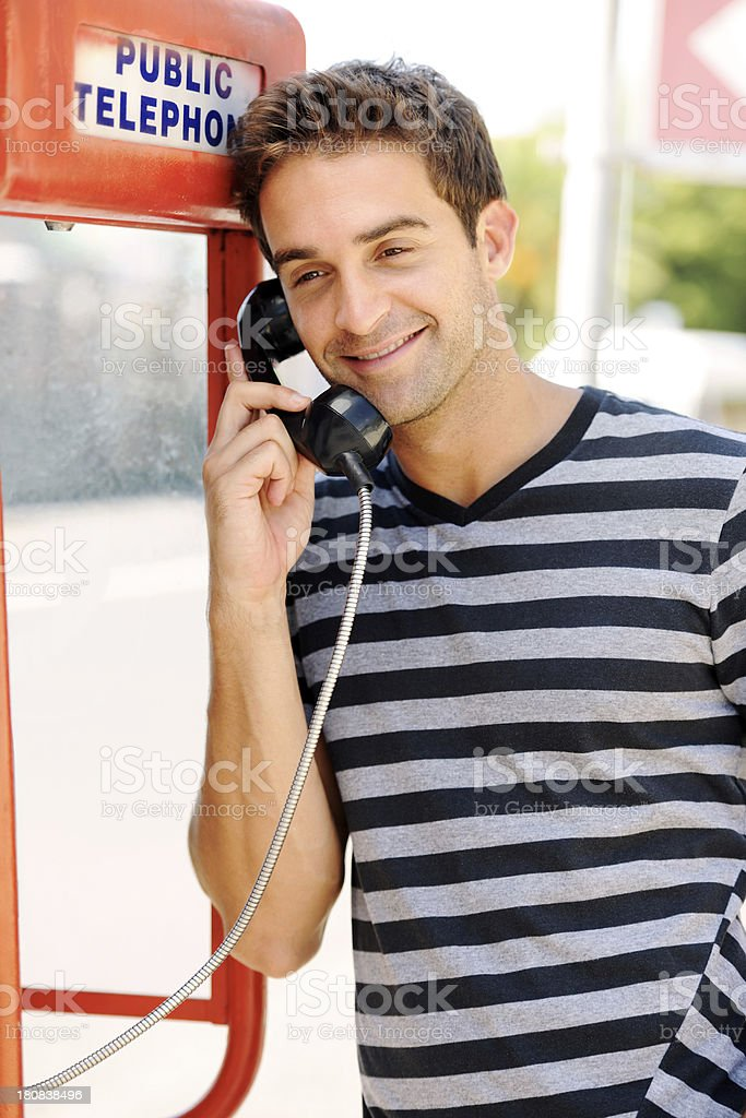 Keeping connected royalty-free stock photo