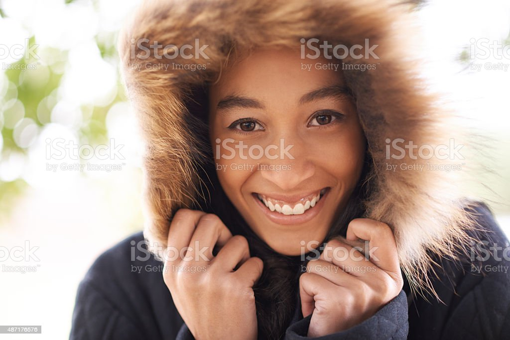 Keeping cozy stock photo