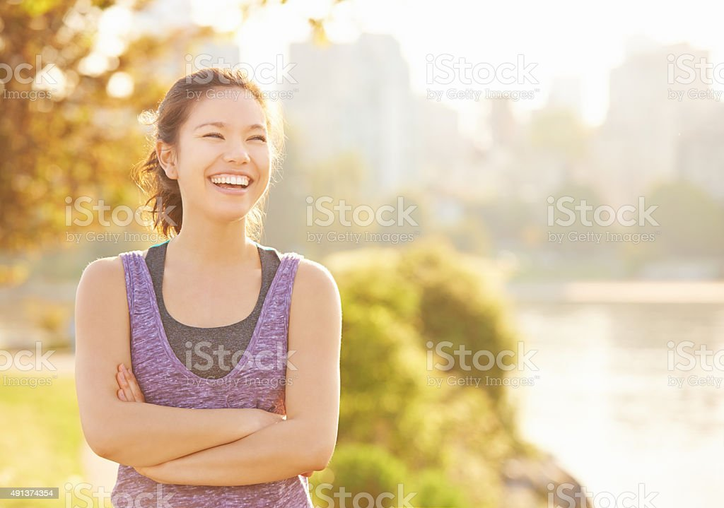 Keeping fit and feeling fantastic stock photo