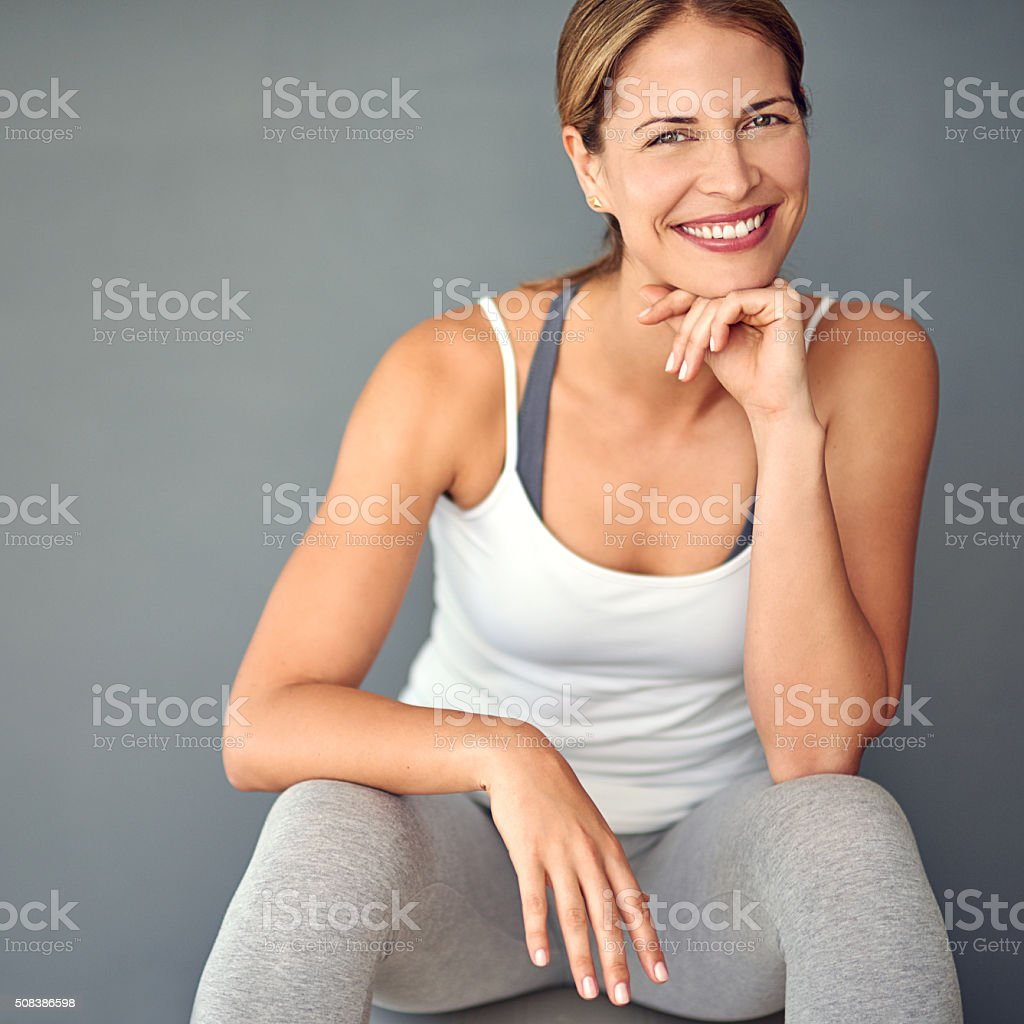 Keeping fit and feeling great stock photo