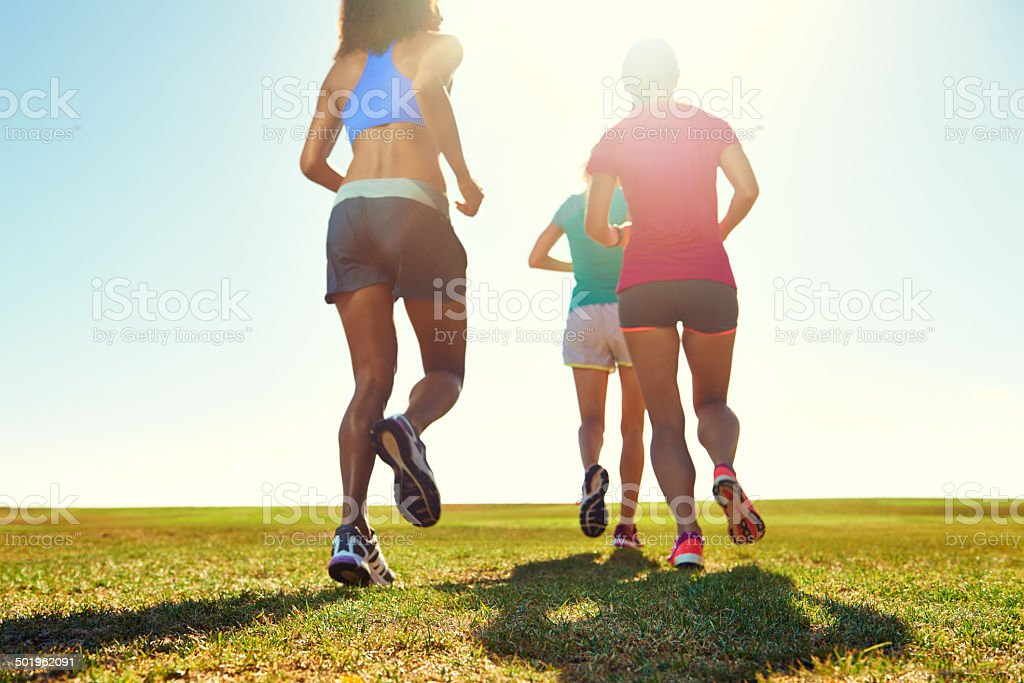 Keeping fit and healthy through exercise royalty-free stock photo
