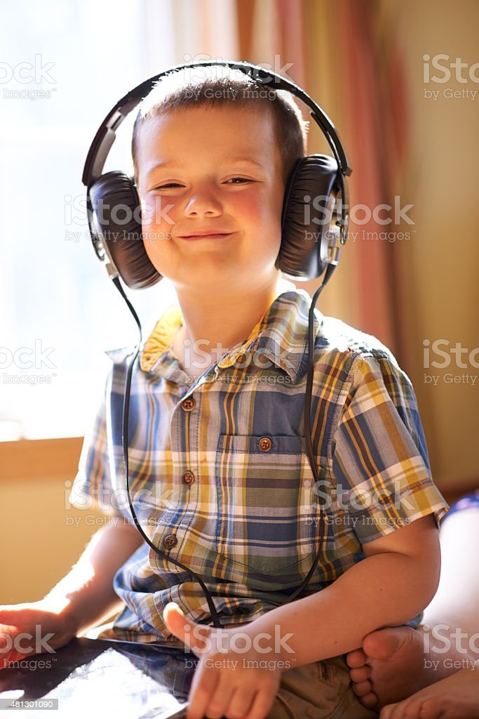 Keeping himself entertained stock photo