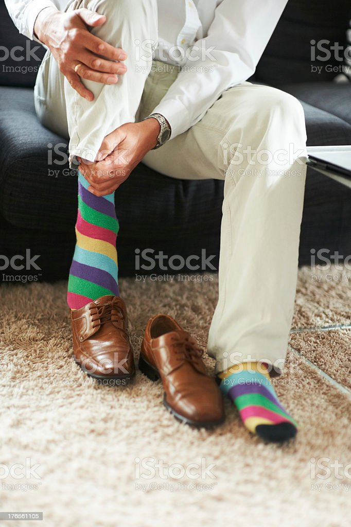 Keeping his fun side covered up royalty-free stock photo