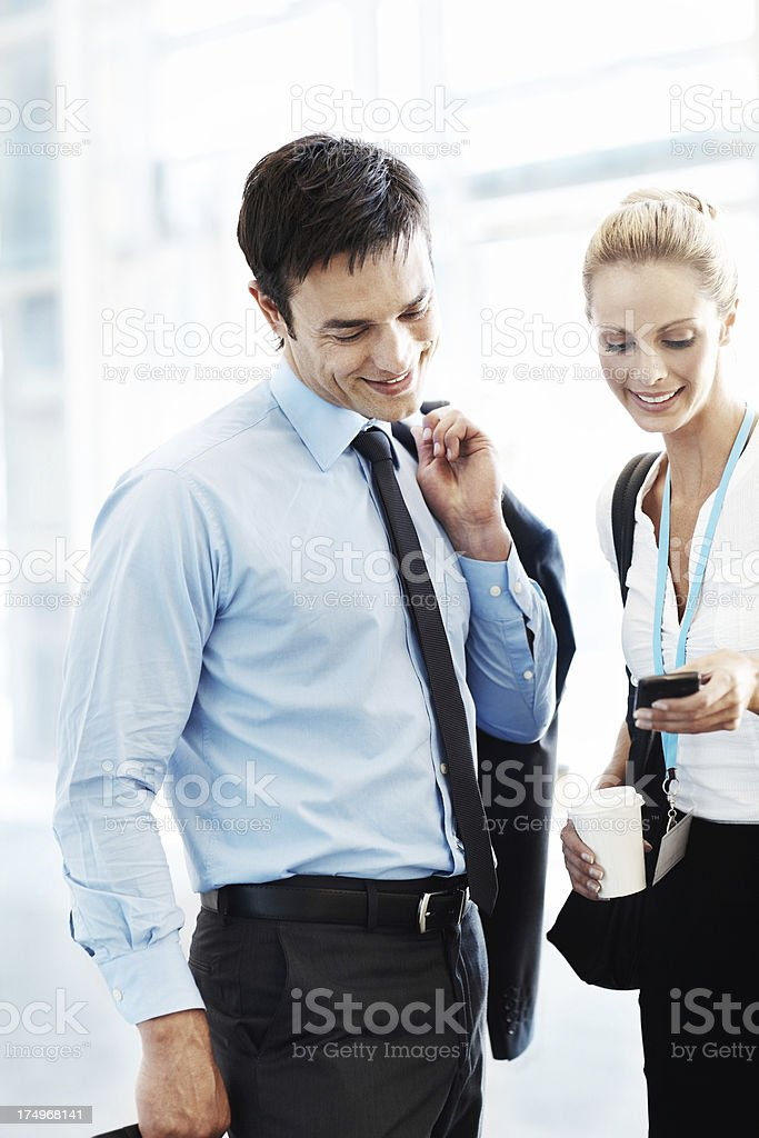 Keeping in touch as they travel royalty-free stock photo