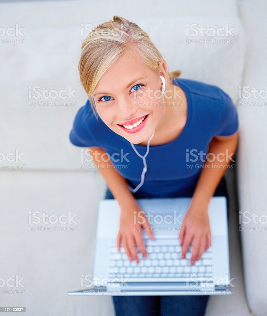 Keeping in touch with all my friends royalty-free stock photo