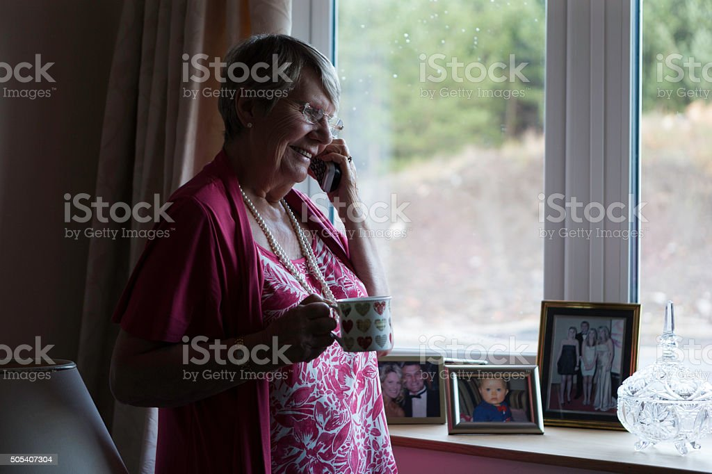 Keeping in Touch with Friends stock photo